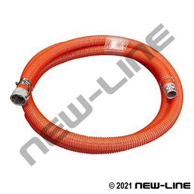 Orange Braided PVC/Female x Male Cams w/ Spiral Clamps