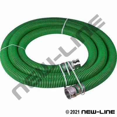 Green EPDM Transfer Hose with Female x Male Camlocks