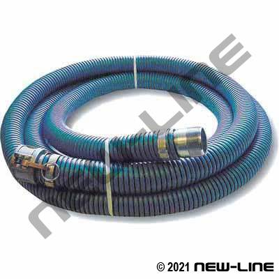 Blue EPDM Transfer Hose with Female Camlock x Male NPT