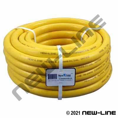 Yellow Commercial PVC Garden Hose with MxF Brass GHT