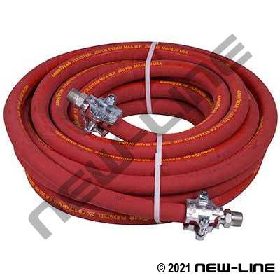 ContiTech 250 CB Cholrobutyl Steam Hose/MNPT Ground Joints