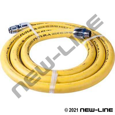 Yellow ContiTech Curb Pump Hose/Chrome Solid X Swivel MNPT
