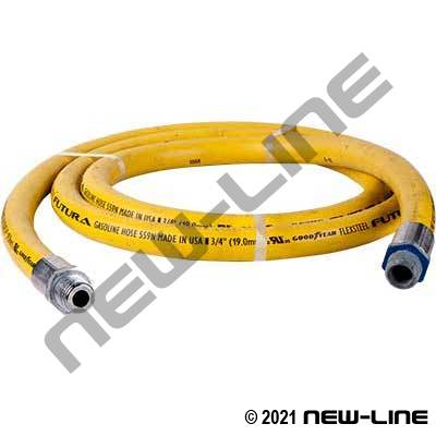 Yellow ContiTech Curb Pump Hose/Fuelgrip Solid X Swivel MNPT