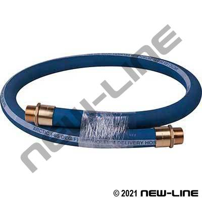 Blue Arctic Multi-Purpose Hose with Brass Scovill MNPT Ends