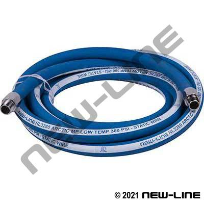 Blue Arctic Multi-Purpose Hose with Chrome Solid MNPT Ends