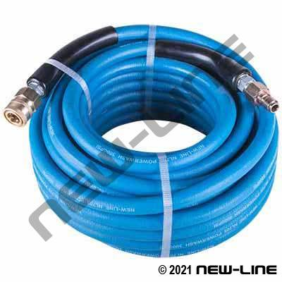 Blue Smooth Cover Pressure Washer Hose/QDs - 3000 PSI