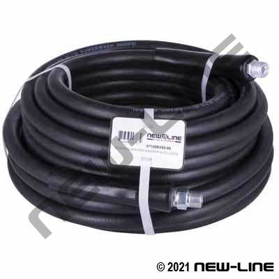 Black Smooth Cover Pressure Washer Hose/Solid MNPT - 4000psi