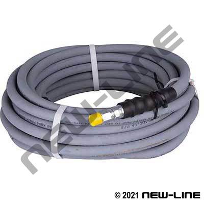 Grey Pressure Washer Hose/Solid Male NPT Each End - 6000 PSI