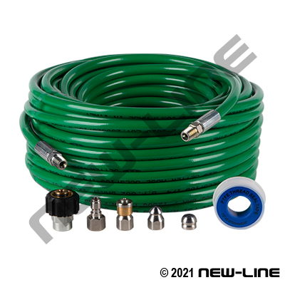 Green Sewer Jetting Hose (Small ID) - 4000 PSI