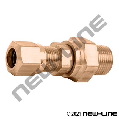 Brass Tube Swivel X Male NPT For Nylon DOT Tubing