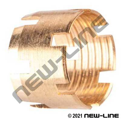 Rubber DOT Hose Sleeve-Brass