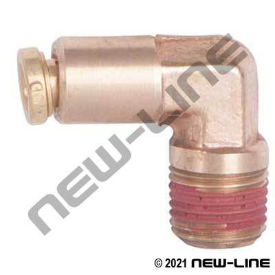 Brass Non-DOT Push-In Male NPT 90° Elbow