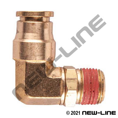 DOT Tube Push-In x Swivel Male NPT 90° Elbow