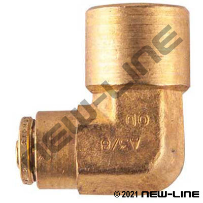 DOT Tube Push-In x Female NPT 90° Elbow