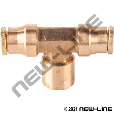 DOT Tube Push-In x Female NPT Branch Tee