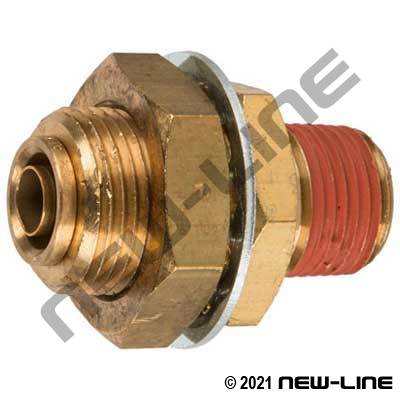 DOT Tube Push-In x Male NPT Bulkhead