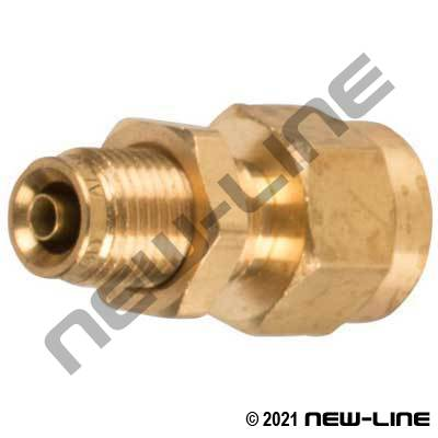 DOT Tube Push-In x Female NPT Bulkhead