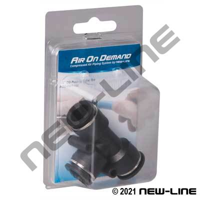 Air On Demand - Black PTC Tube OD Union Tee - Expansion Kit