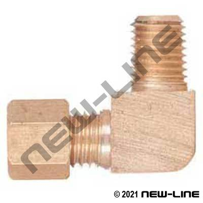 Brass Air Shift Transmission 90° Compression x Male NPT