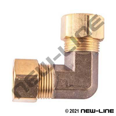 Brass 90° Compression Elbow