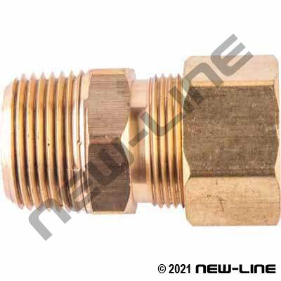 Male NPT Brass Compression Coupling