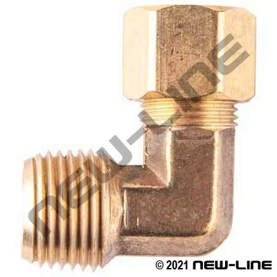 Male NPT Brass 90° Compression