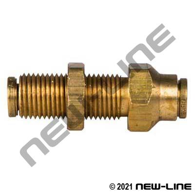 Brass Non-DOT Push-In Bulkhead Union