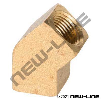 Brass Extruded 45° Female Elbow (Standard/Common)