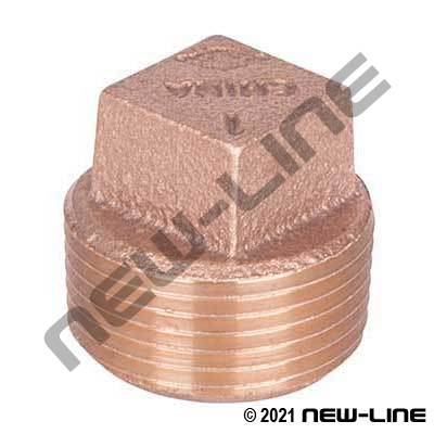 Lead Free LF-109-E Brass Square Head Plug