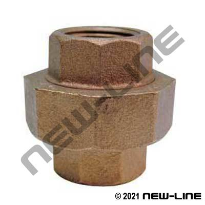 Lead Free LF-104-D Brass Union Coupling