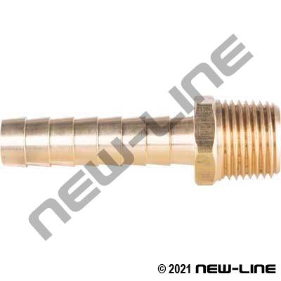 Brass Long Barb X Male NPT