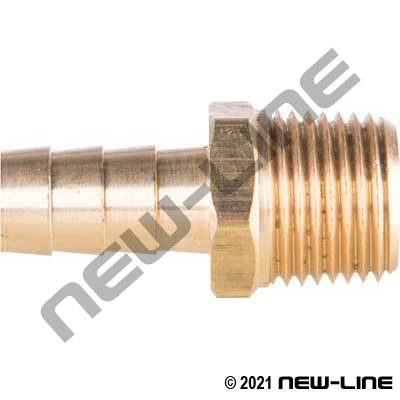 Brass Barb x Male NPT
