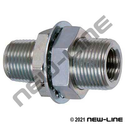 Plated Steel Male NPT X Female NPT Bulkhead