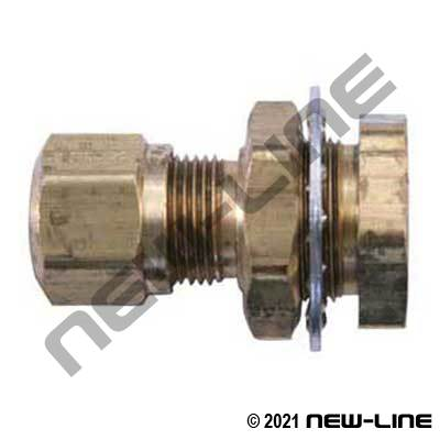Brass Female NPT X Nylon Tube Bulkhead