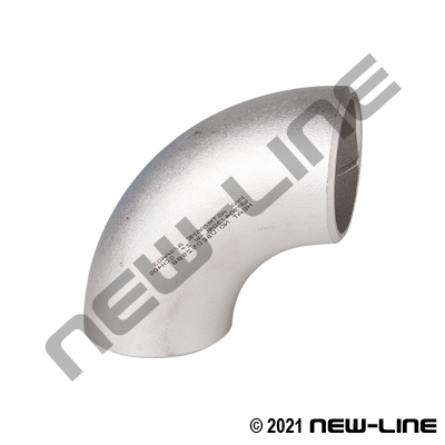 304 Stainless Sched 40 Long-Radius 90° Weld Elbow