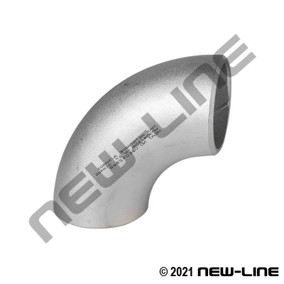 316 Stainless Sched 40 Long-Radius 90° Weld Elbow