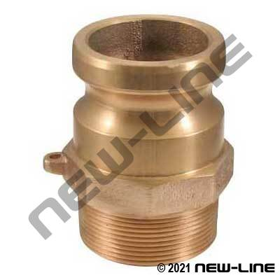 ContiTech Brass Instalock F Camlock - Male NPT Adapter
