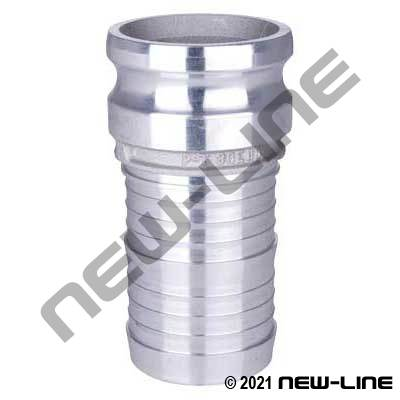 Heavy Duty Pattern Stainless Part E Camlock - Hose Adapter