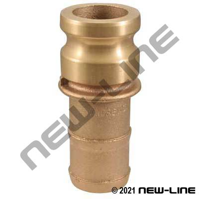 Domestic Bronze Part E Camlock - Hose Adapter