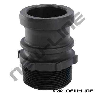 Heavy Duty Polypropylene Part F Camlock - Male Adapter