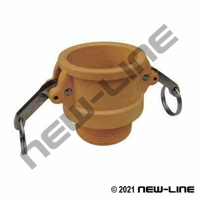 Yellow Nylon Part B Camlock - Male NPT Coupler