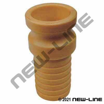 Yellow Nylon Part E Camlock - Hose Adapter