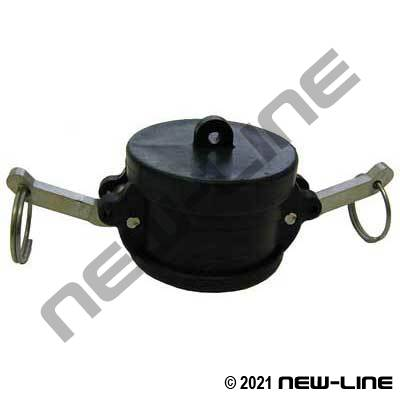 Black Polypropylene Part DC Camlock - Dust Cap