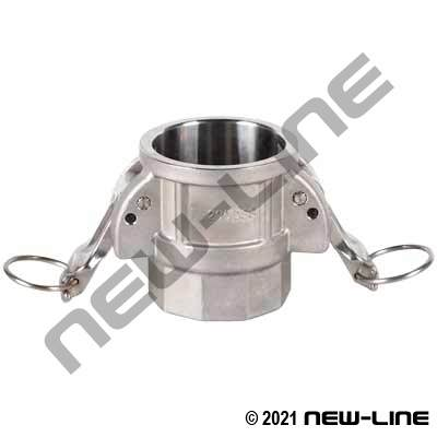 316 Stainless Part D Camlock - FNPT Coupler w/Locking Arm