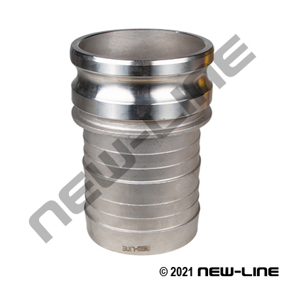 316 Stainless Part E Camlock - Hose Adapter