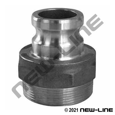 Stainless Jump Size Part F Male Camlock X Male NPT Jump Size