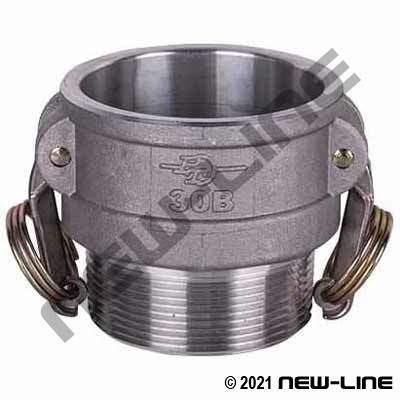 PT Coupling Aluminum Part B - Male NPT Coupler