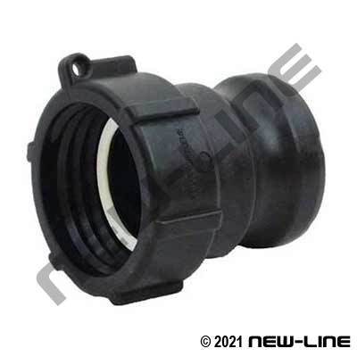Black Polypropylene Part A - Female Buttress Tank Adapter