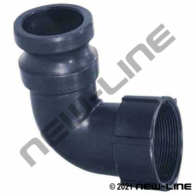 Polypropylene 90° Male Camlock x Female NPT