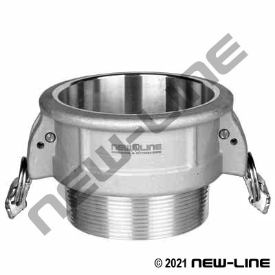 316 Stainless Part B Camlock - MNPT Coupler w/locking Arm